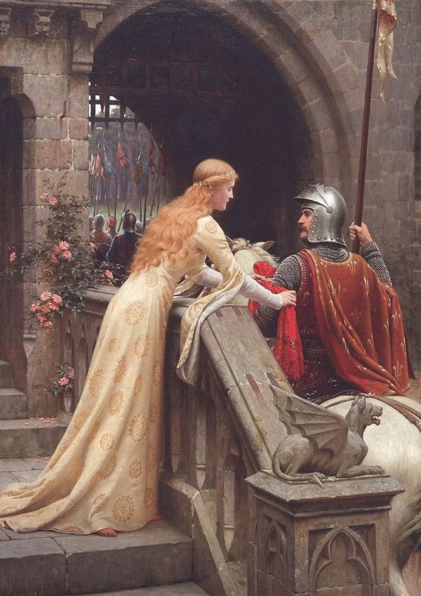 Leighton, Edmund Blair: God Speed. Fine Art Print/Poster. Sizes: A4/A3/A2/A1 (003060)